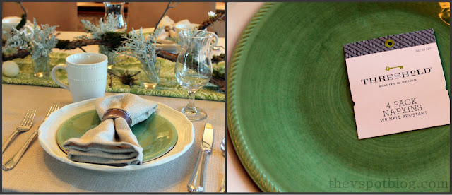 Easter, brunch, tablescape, table setting, green plates
