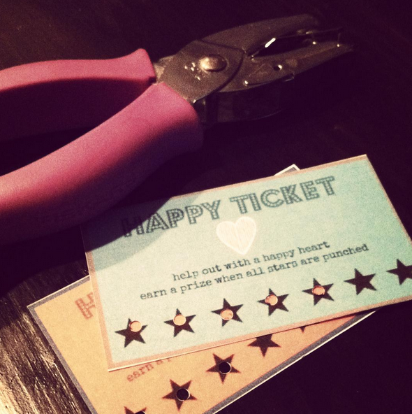 Different Dog A Simply Beautiful Life Happy Tickets and Reward – Printable Ticket Paper