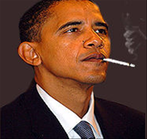 Barack Obama Smoking Weed