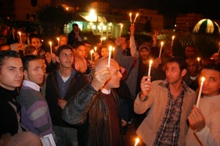 Gaza Candlelight Vigil for Anniversary of Operation Cast Lead