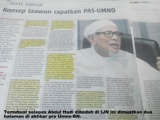 "KENAPA TERAS POLITIK MELAYU ADA PADA AMANAH, BERSATU PKR ; BUKANLAH LAGI PADA "" PASNO "" UMNO PAS !!"