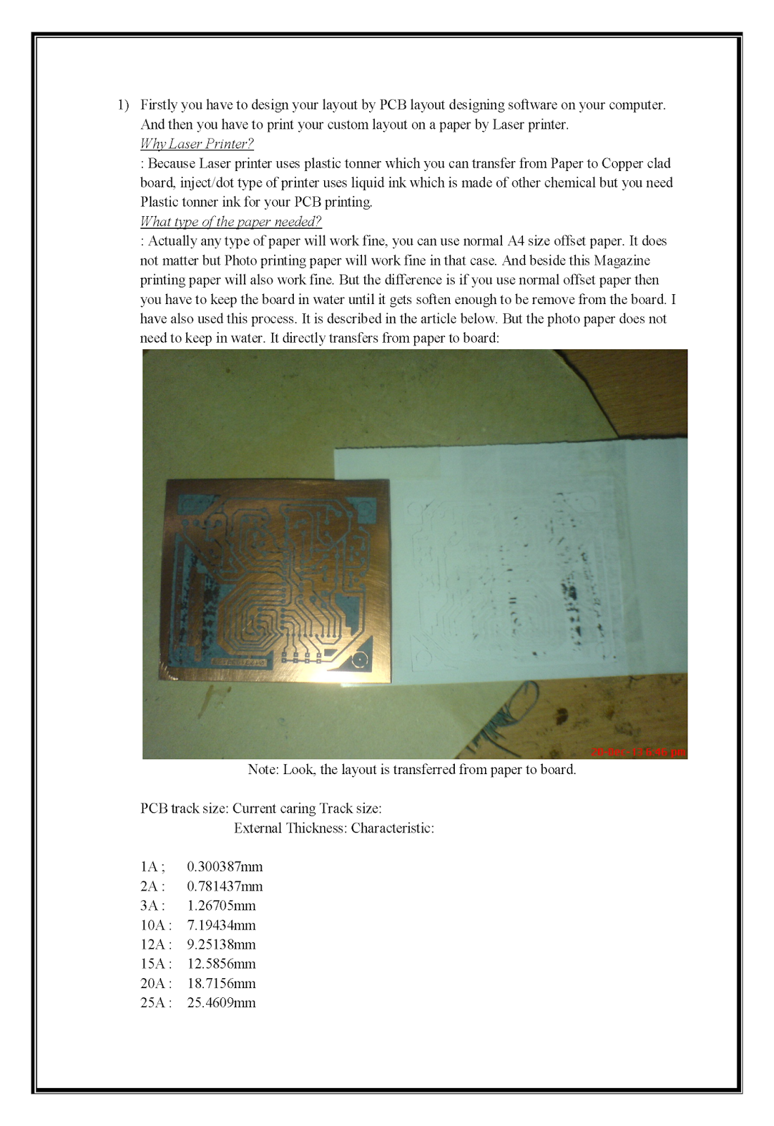Making Pcb At Home Printed Circuit Board Print Your Boards If You Are Planning To Layout On A Copper And Want Make Custom Then My This Attached Hand Note Will Help