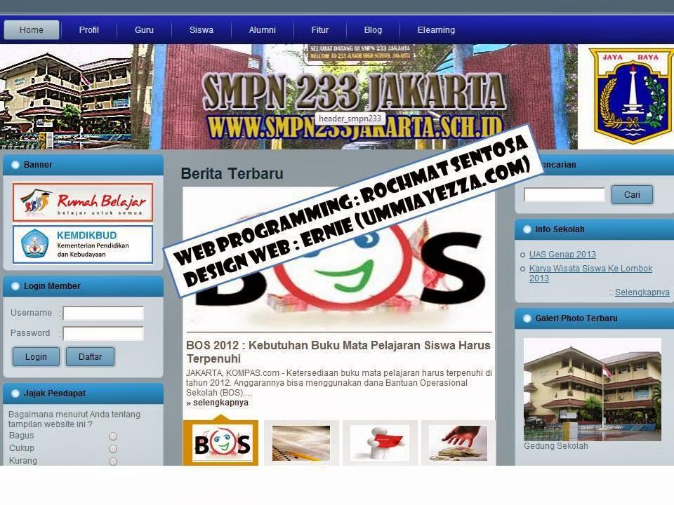 website sekolah,Website Sekolah SMPN 233 Jakarta