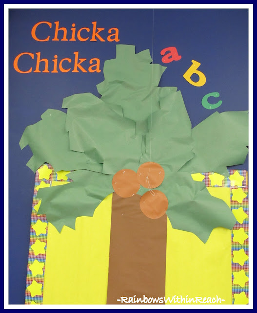 photo of: Bulletin Board for Chicka-Chicka Boom Boom (from Bulletin Board RoundUP via RainbowsWithinReach)