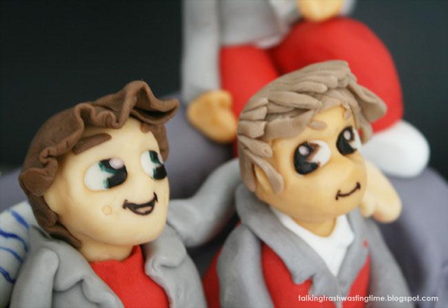 Fondant cake figures, Harry Styles & Liam