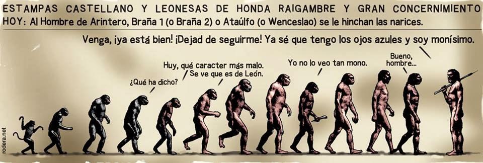 Viñeta de humor de Ernesto Rodera sobre La Braña 1