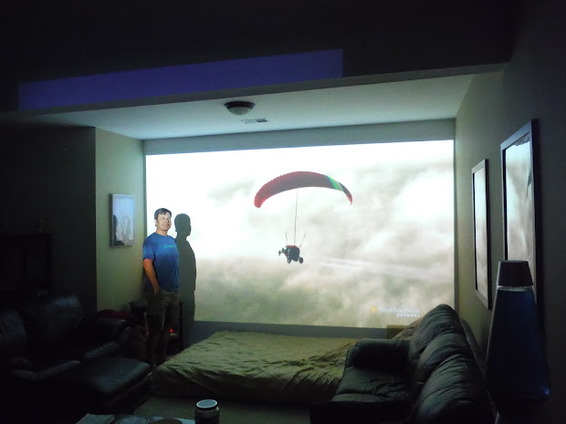 Home Theater Projector On Wall