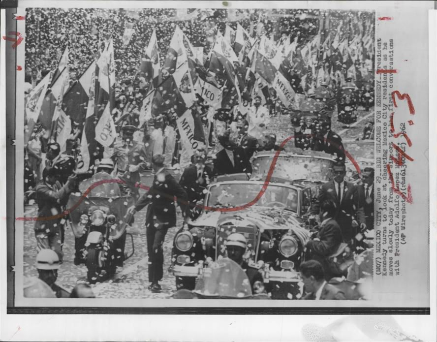 JFK, MEXICO CITY: AGENTS SURROUND LIMO