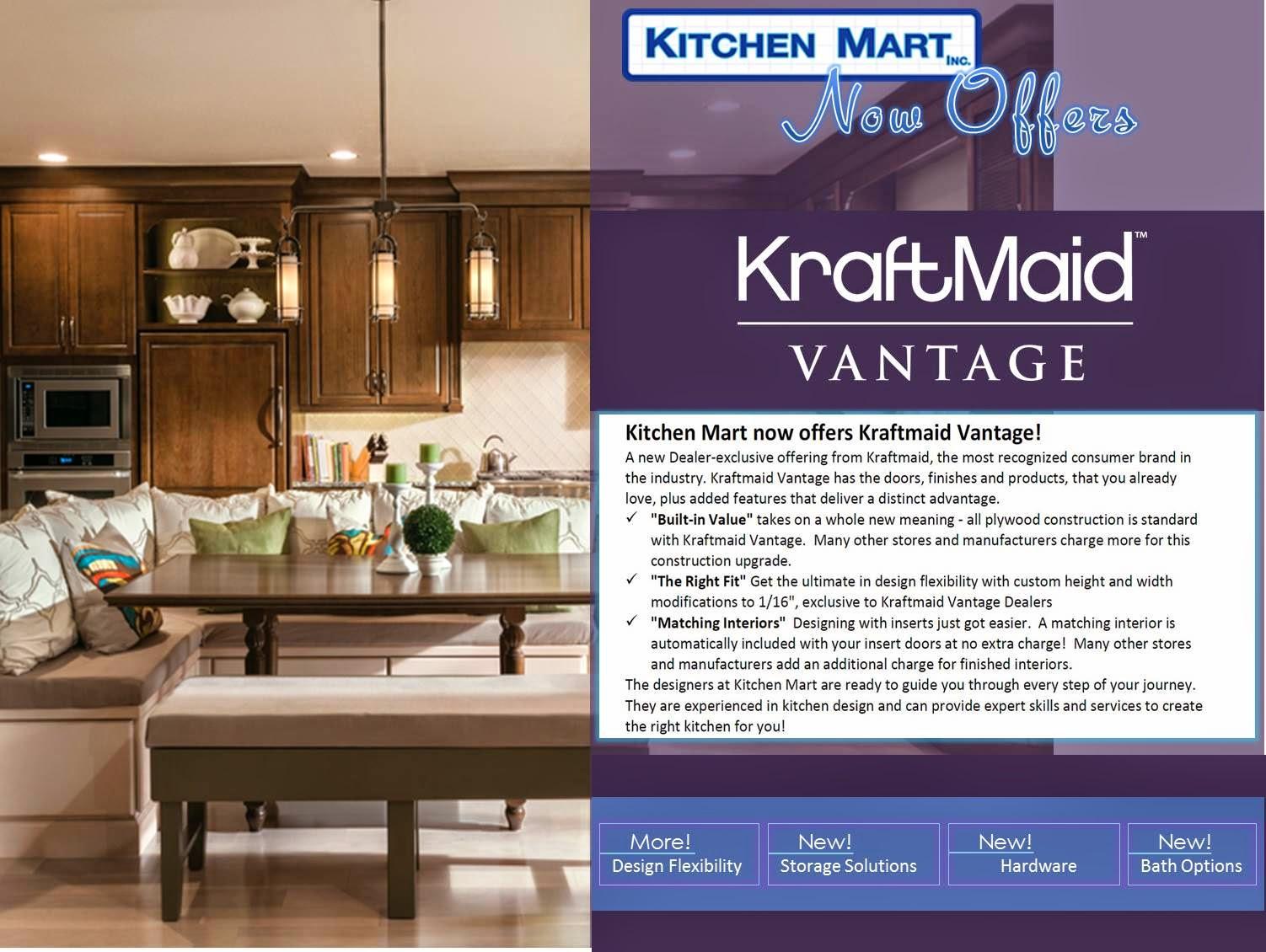 Kitchen Mart Now Offers Kraftmaid Vantage