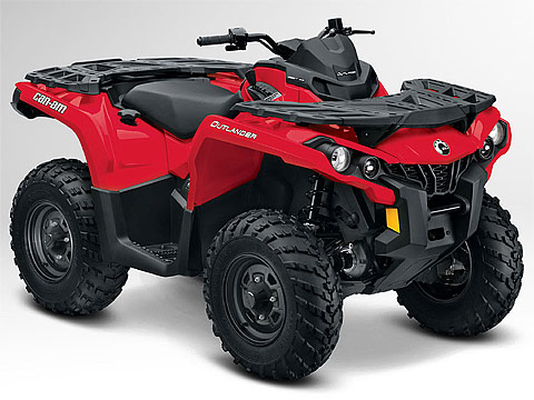 2013 Can-Am Outlander 500 ATV pictures. 480x360 pixels