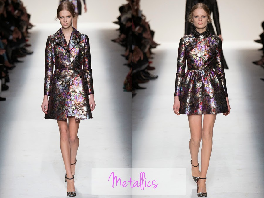 valentino, fall winter, fw, aw, autumn winter, rtw, ready to wear, 2014, designer, fashion blog, fashion review, collection, collection review, valentino fashion, womens fashion, metallics