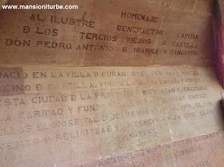 Placa en honor de Don Antonio de Ibarra y Sangotita en Pátzcuaro