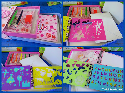 Mini Stencil set in pink craft for children