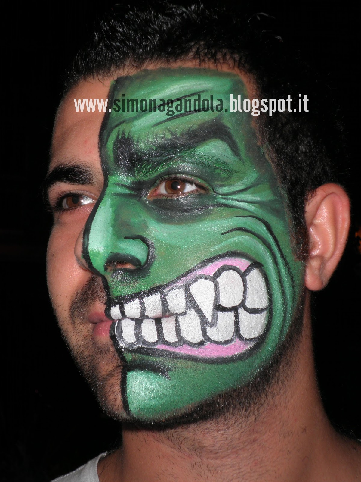 Green lantern mask face paint - photo#26