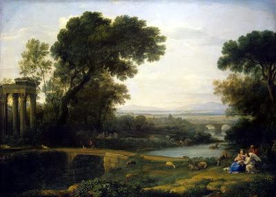 Claude LORRAIN - Paysage avec une halte durant la fuite en Égypte, 1661