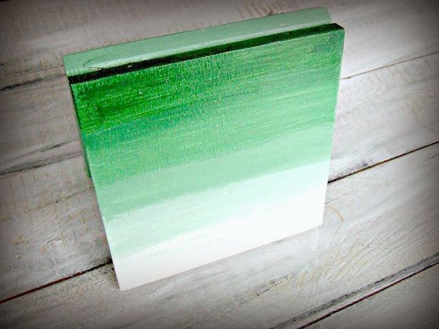 Zielone pudełko hand made ombre - Eco Manufaktura pracownia decoupage i hand made