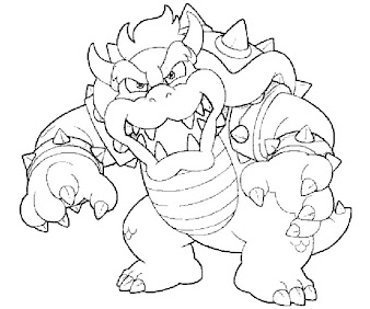 #13 Bowser Coloring Page