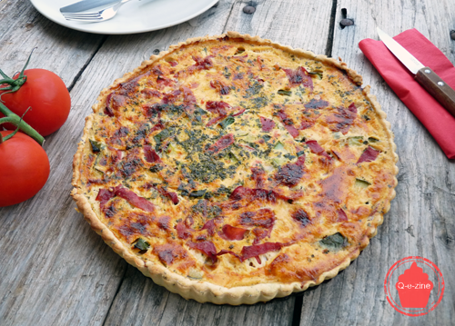 tarte courgettes bacon tomates