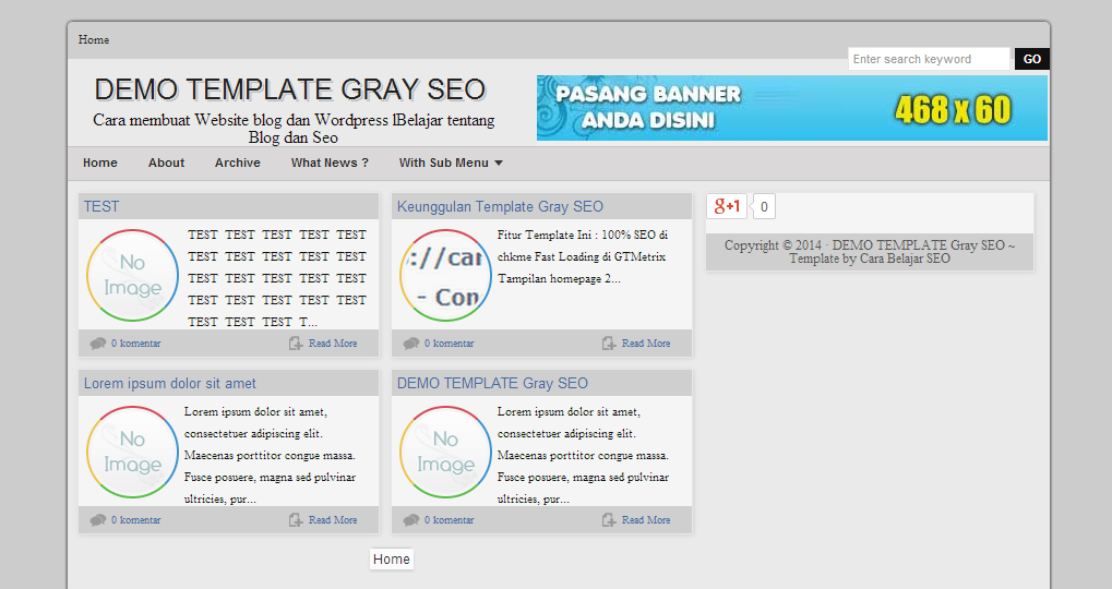 Template Gray Full SEO