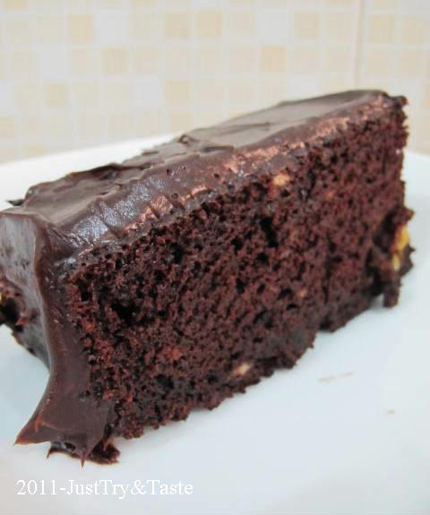 Cake Coklat Pisang (Chocolate Banana Cake)