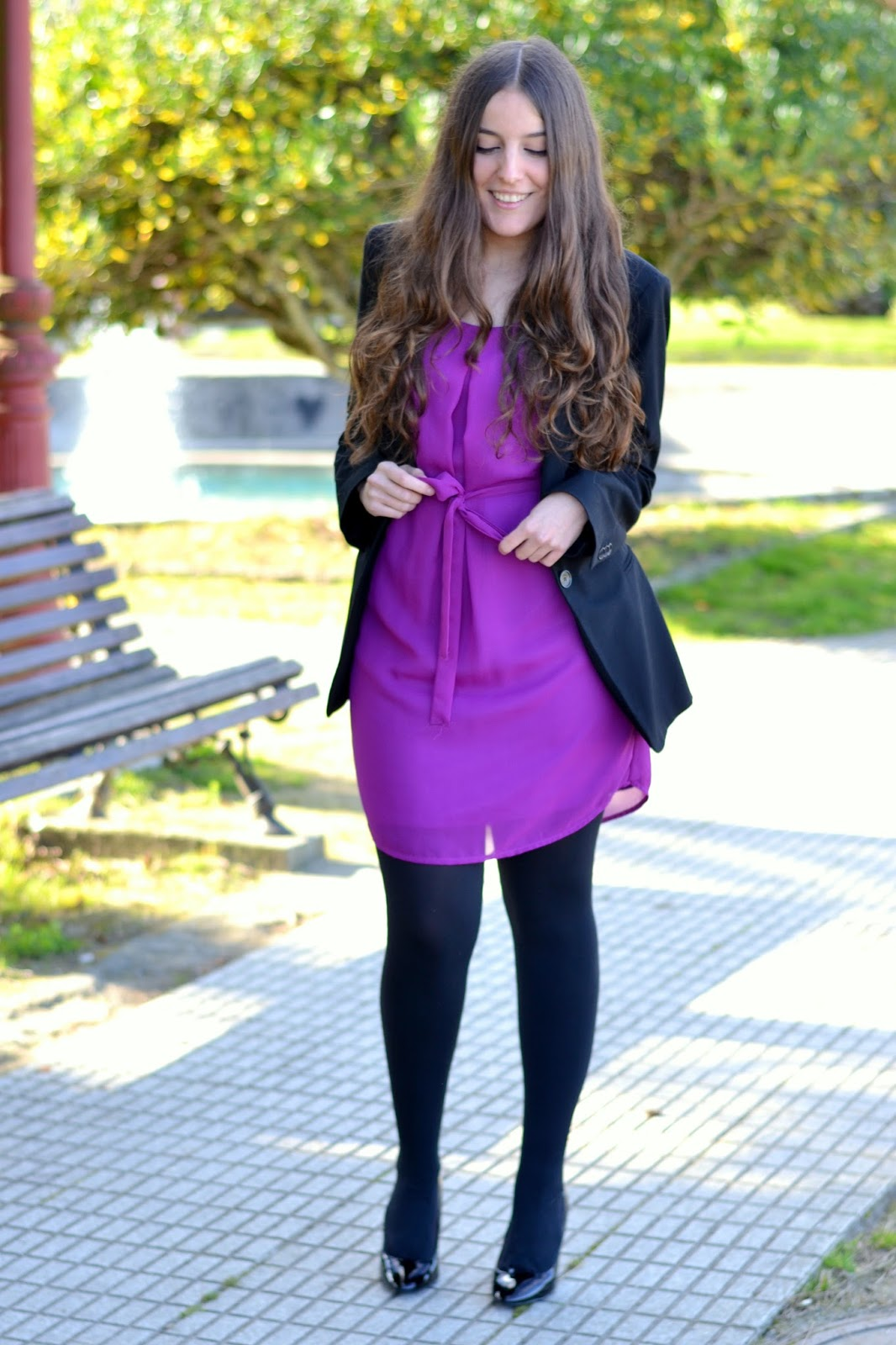 vestido lucloset lazo