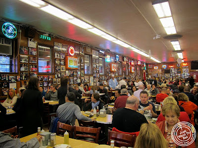 image of dining room at Katz's Deli in NYC, New York