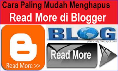 Cara Paling Mudah Menghapus Read More di Blogger