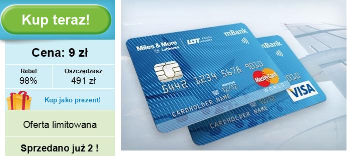 Karta kredytowa Miles & More mBank Groupon Visa MasterCard