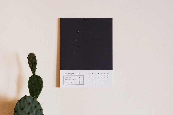 Astrology Wall Calendar by Chelsey Dyer