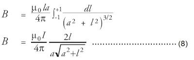 persamaan integral induksi magnetik di titik P