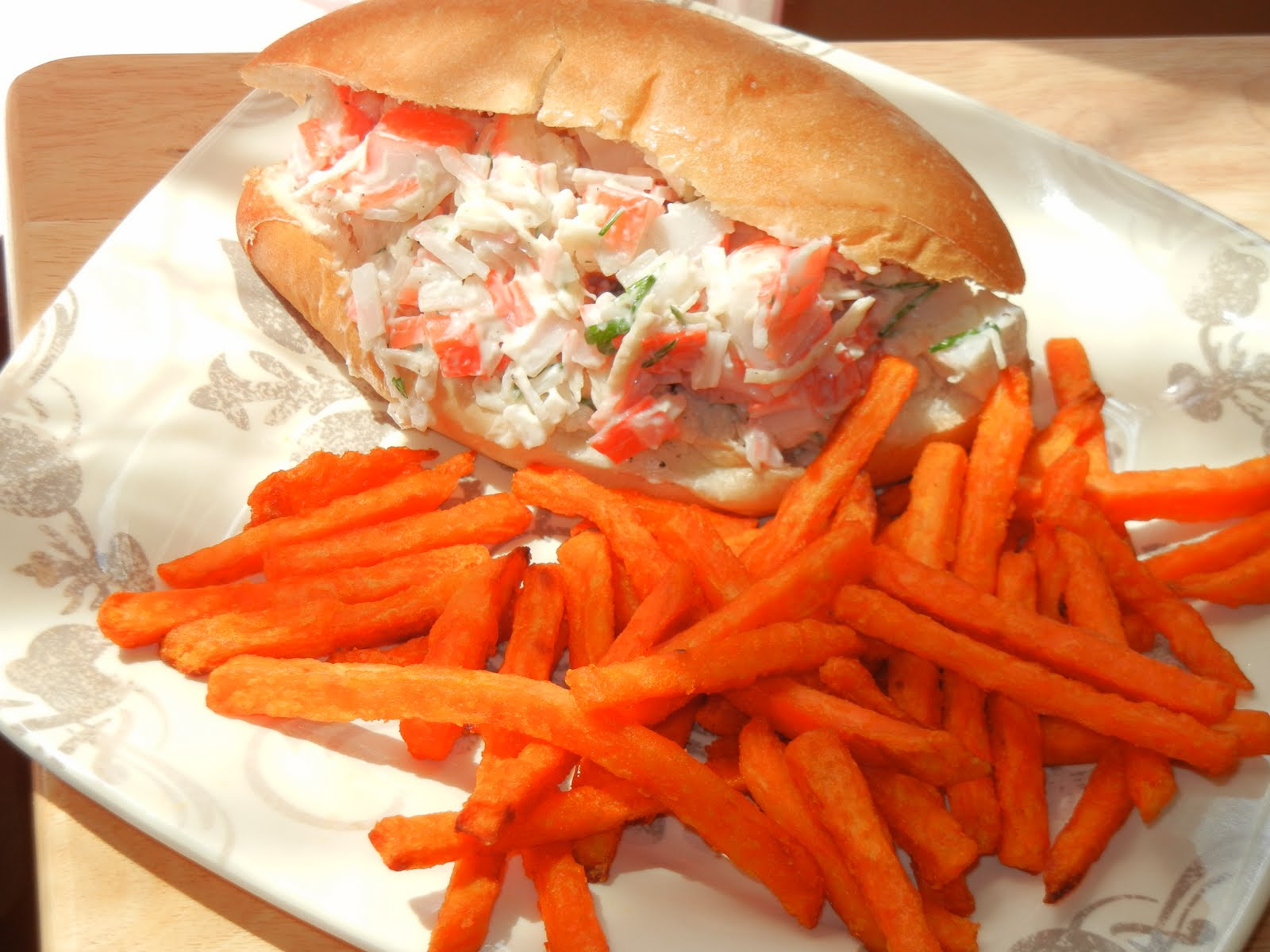Crab Sandwich Garlic crab sandwich