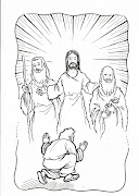 Dibujo Cristiano de La Transfiguracion de Jesus para colorear (la transfiguracion)