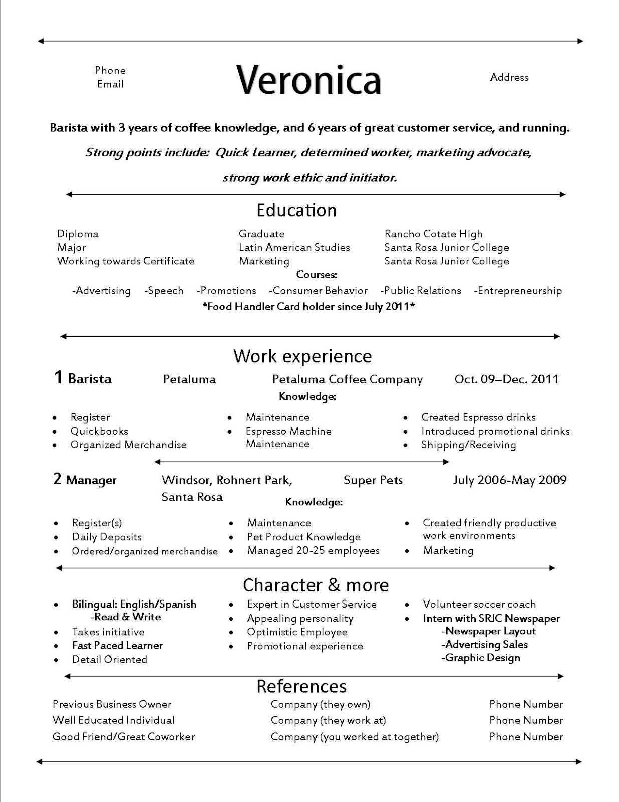 resume for barista resume for barista 3437