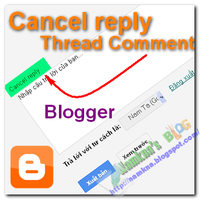 Thêm nút Cancel reply cho Thread Comment