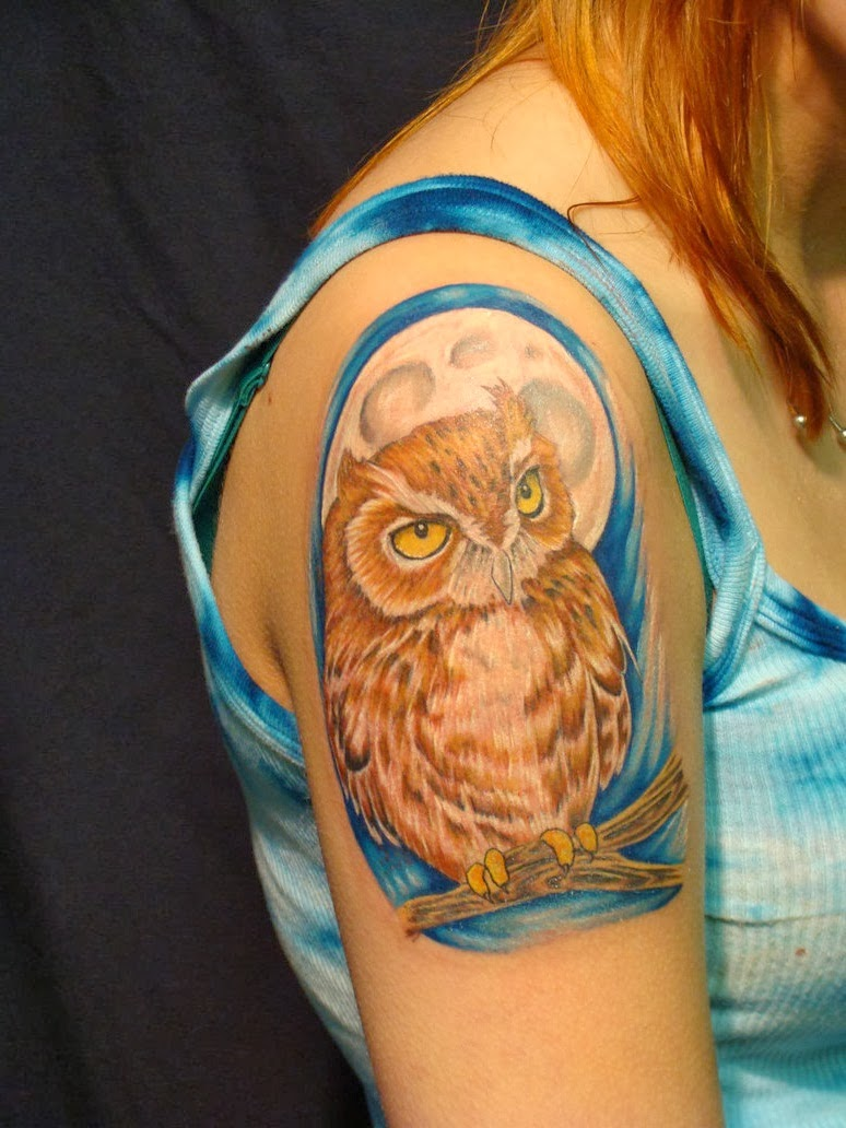 owl tattoo designs for girls