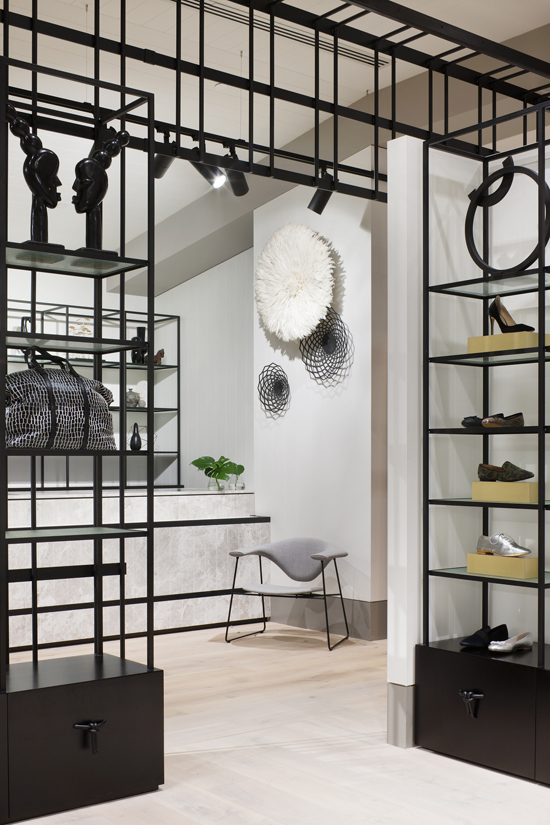 Safari Fusion blog | Seed Heritage + Safari Fusion | Dramatic monochrome palate at the Seed Heritage flagship store Emporium Melbourne © Shannon McGrath