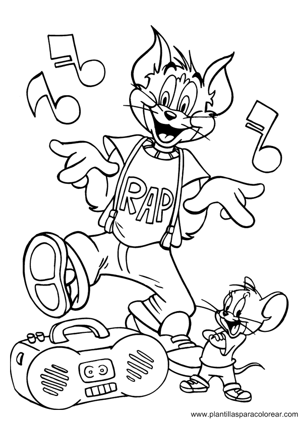 tom y jerry coloring pages - photo#36