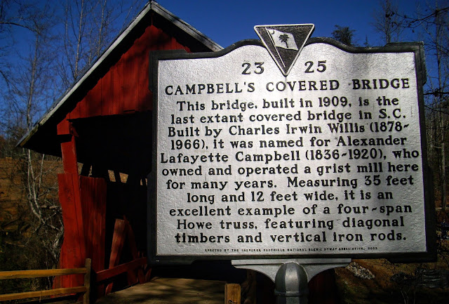 campbells covered bridge sign