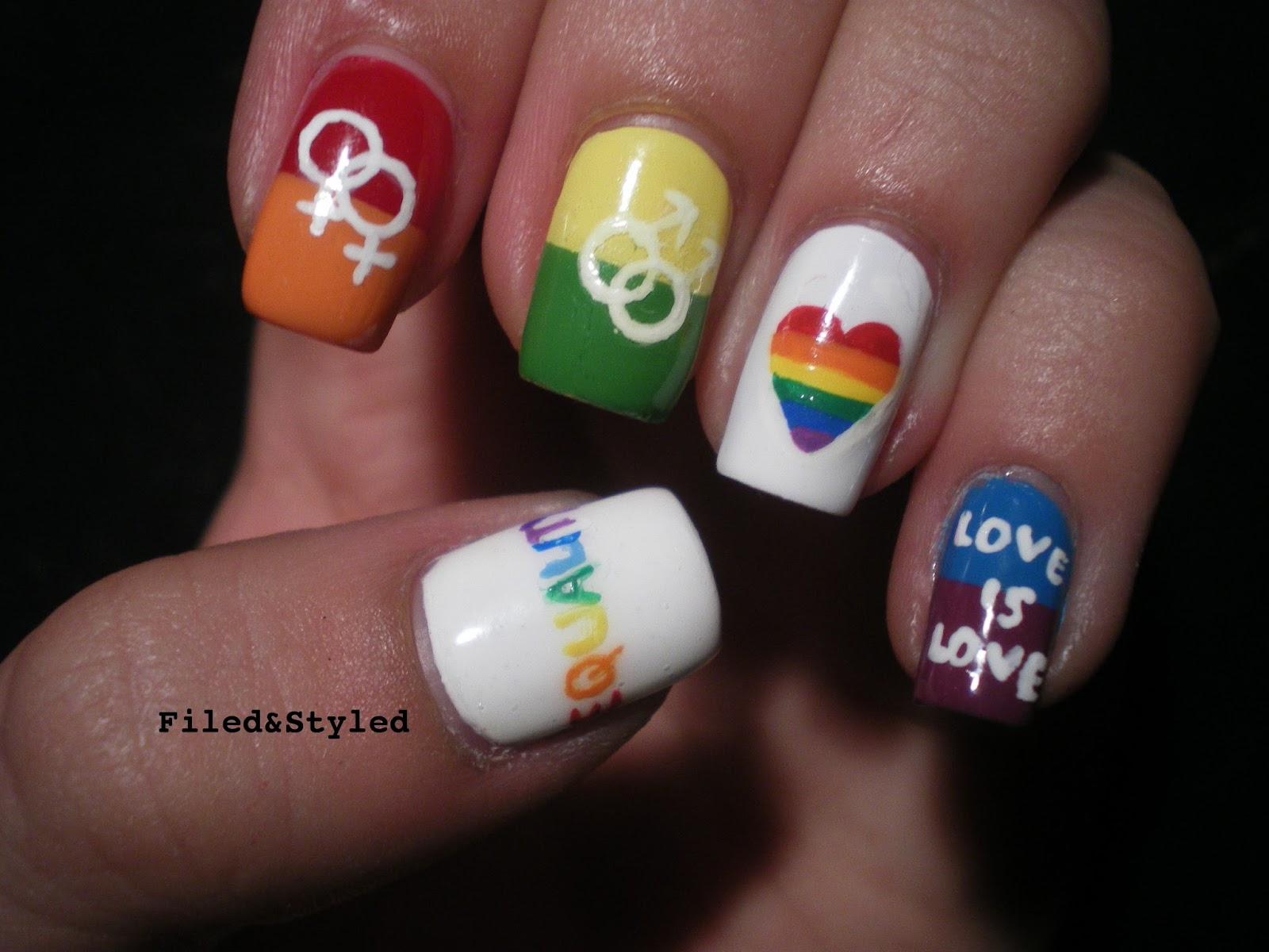 31dc2013 Rainbow Nails | Filed & Styled Filed & Styled: 31dc2013 ...