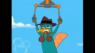 Perry ornitorrinco volando