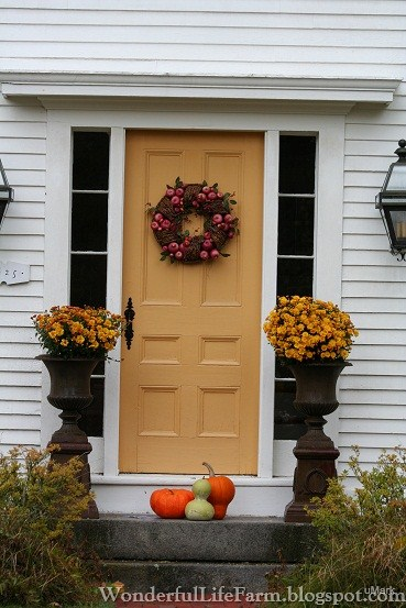 Need A Little Inspiration For Your Front Door Or Porch This Autumn? Check  Out The Beauties That Caught My Eye Here In New England!