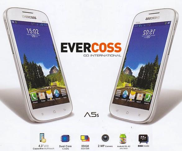 Evercoss A5S HP Android Dual Core Jelly Bean Harga Murah
