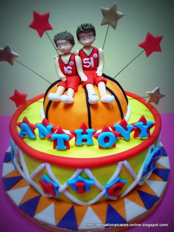 The Sensational Cakes basketball Theme Cake Singapore Featuring 2