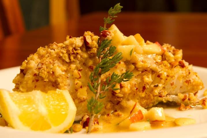 ... Culinary Adventure: Hazelnut-Crusted Halibut with Apple Vinaigrette