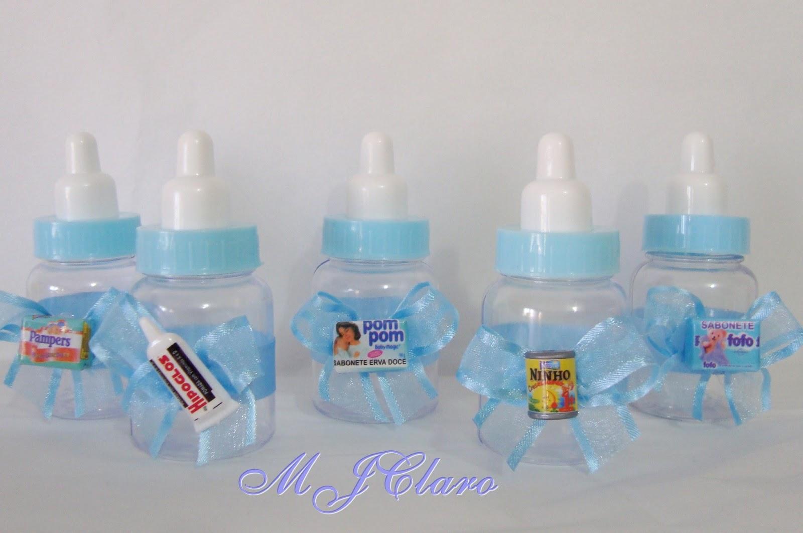 decoradas Azul com laço de organza, para chá de bebe e Maternidade