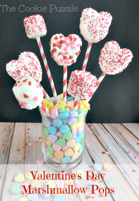 Marshmallow Pops for Valentine's Day