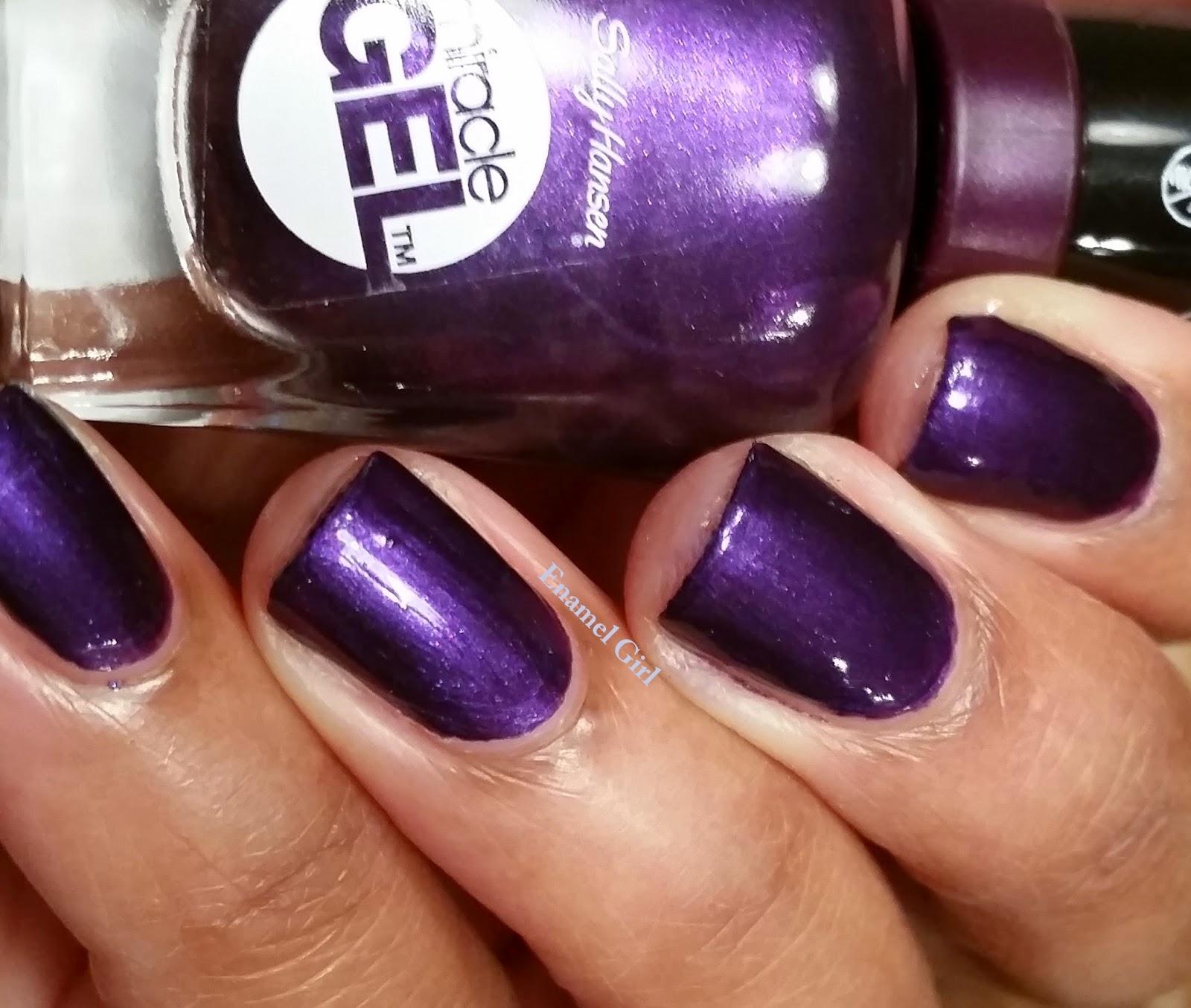 Enamel Girl: Sally Hansen Miracle Gel Review - Purplexed 6 Day Results!