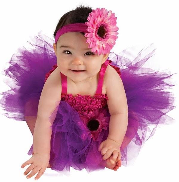 Foto bayi perempuan lucu banget pakai baju tutu dress