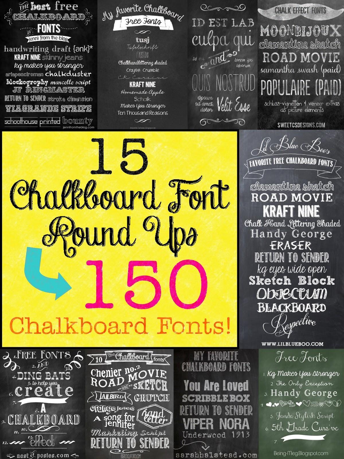 Mega Chalkboard Font Round Up! - The Scrap Shoppe