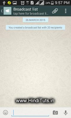 WhatsApp Broadcast List Image